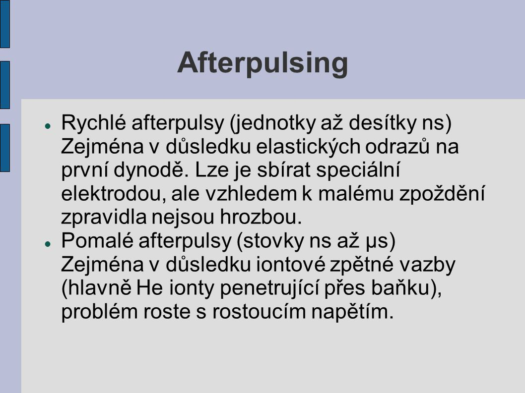 Afterpulsing