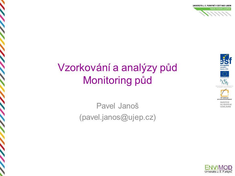 Vzorkování a analýzy půd Monitoring půd