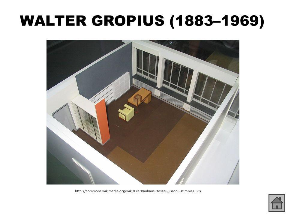 WALTER GROPIUS (1883–1969) http://commons.wikimedia.org/wiki/File:Bauhaus-Dessau_Gropiuszimmer.JPG