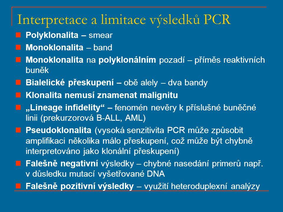 Interpretace a limitace výsledků PCR