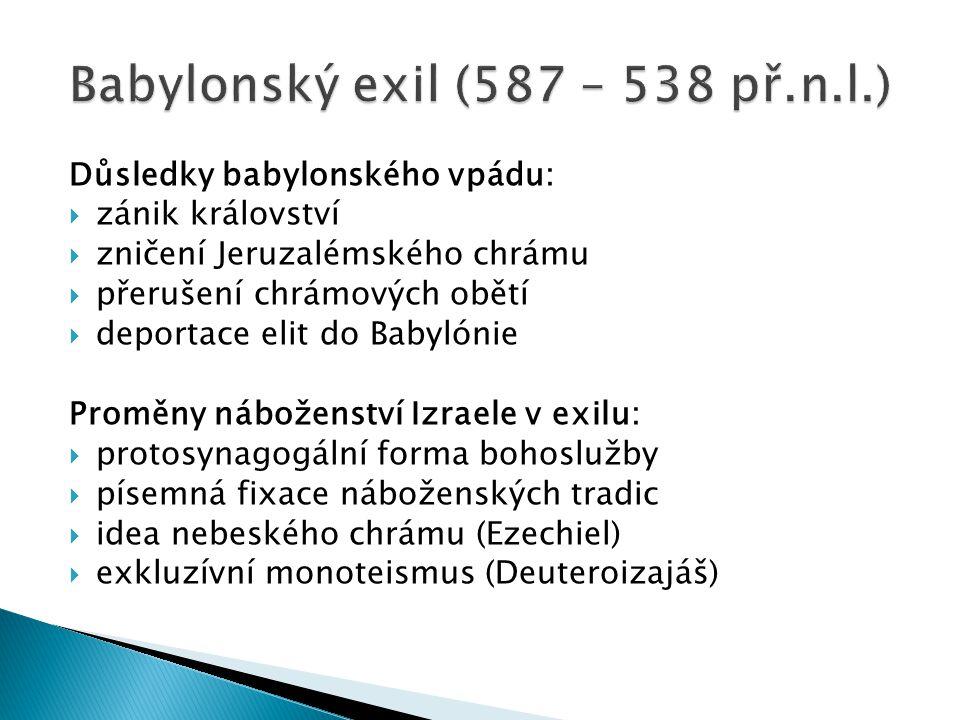Babylonský exil (587 – 538 př.n.l.)