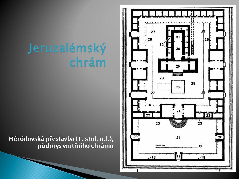 Jeruzalémský chrám Héródovská přestavba (1. stol. n.l.),