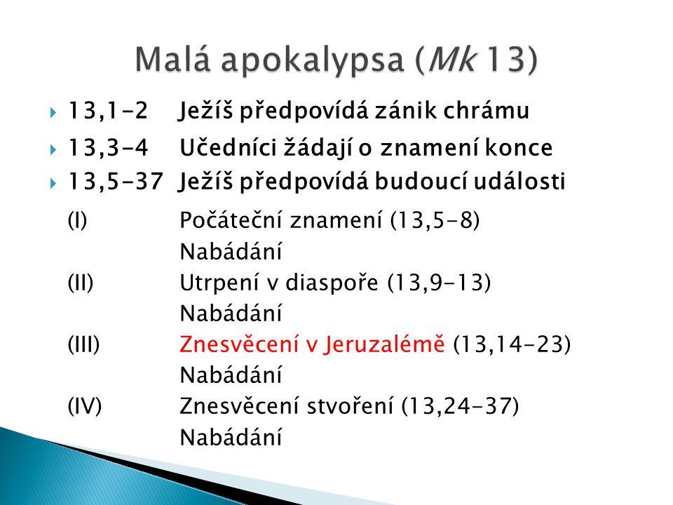 Malá apokalypsa (Mk 13) (I) Počáteční znamení (13,5-8)