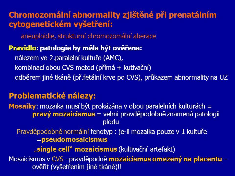 aneuploidie, strukturní chromozomální aberace