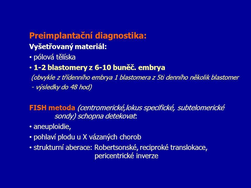 Preimplantační diagnostika: