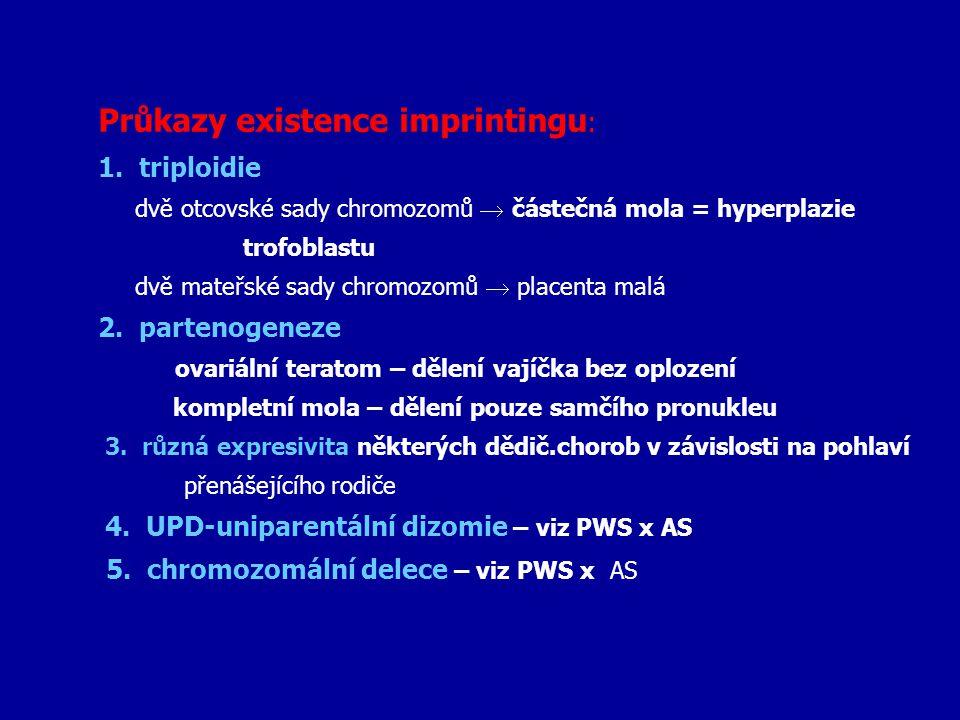 Průkazy existence imprintingu: