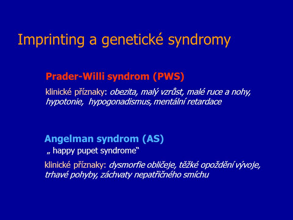 Imprinting a genetické syndromy