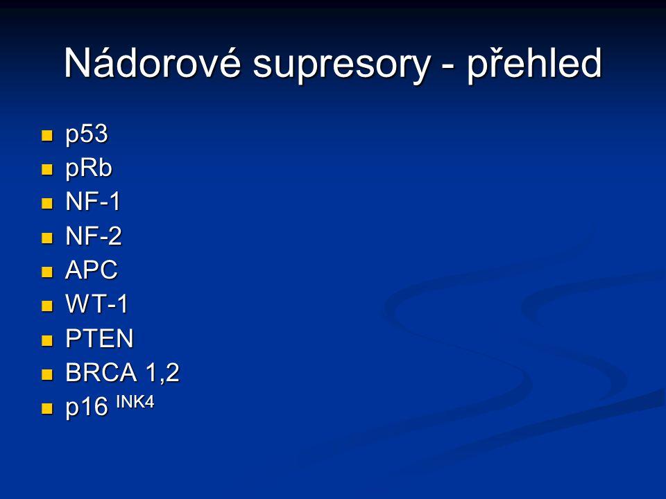 Nádorové supresory - přehled