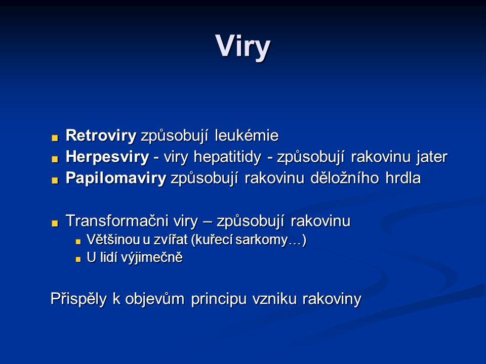 Viry Retroviry způsobují leukémie