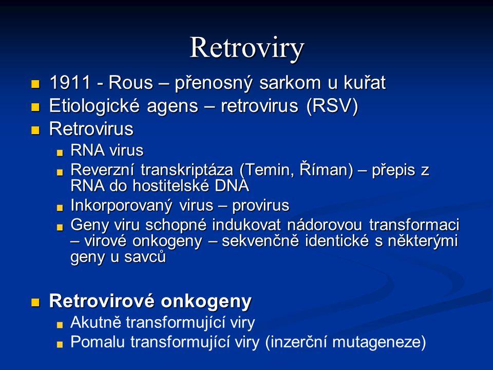 Retroviry 1911 - Rous – přenosný sarkom u kuřat