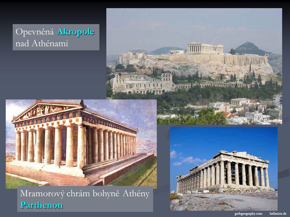 Mramorový chrám bohyně Athény Parthenon