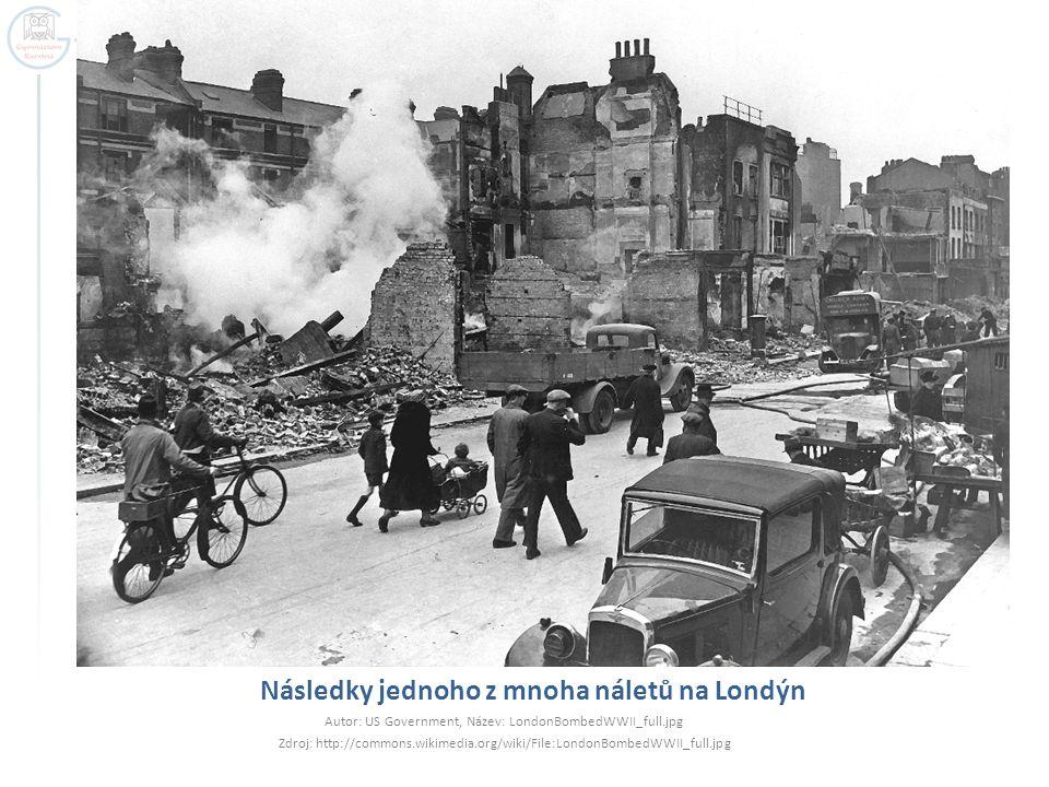 Následky jednoho z mnoha náletů na Londýn