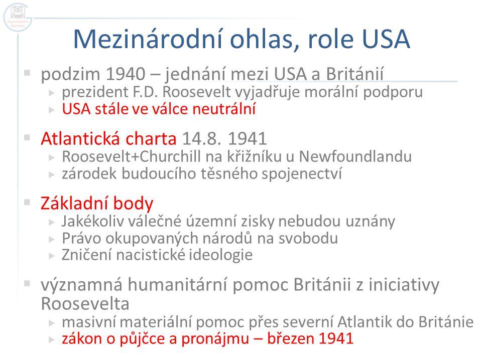 Mezinárodní ohlas, role USA