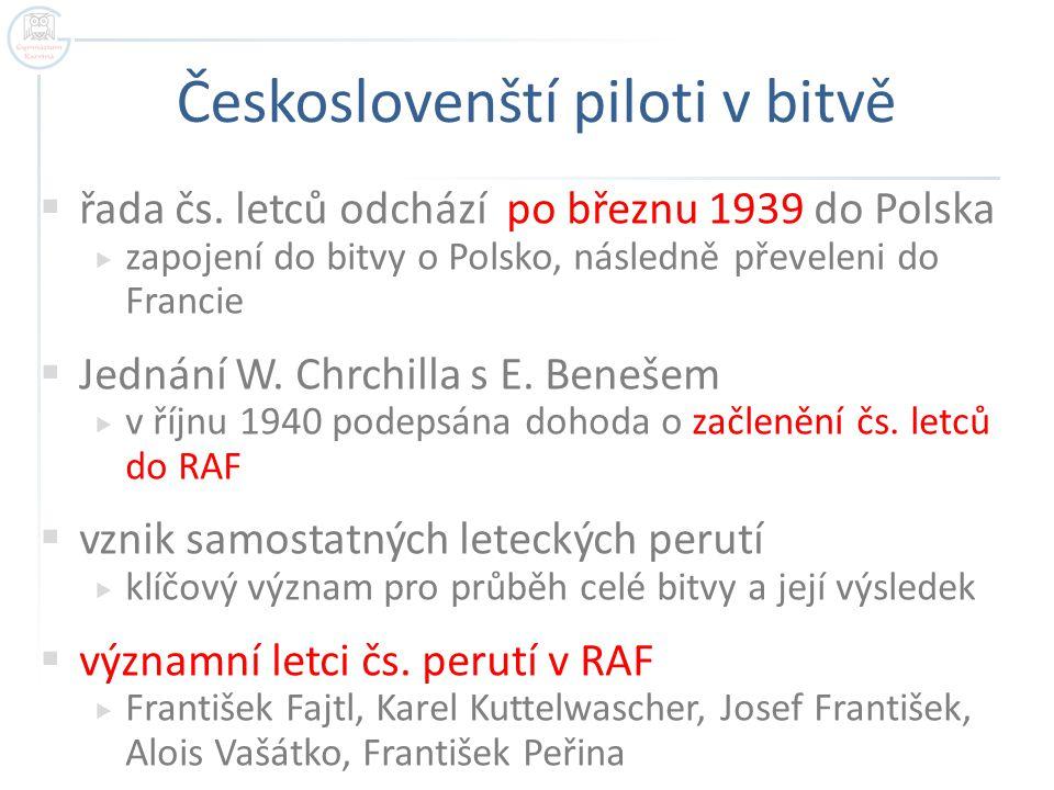 Českoslovenští piloti v bitvě