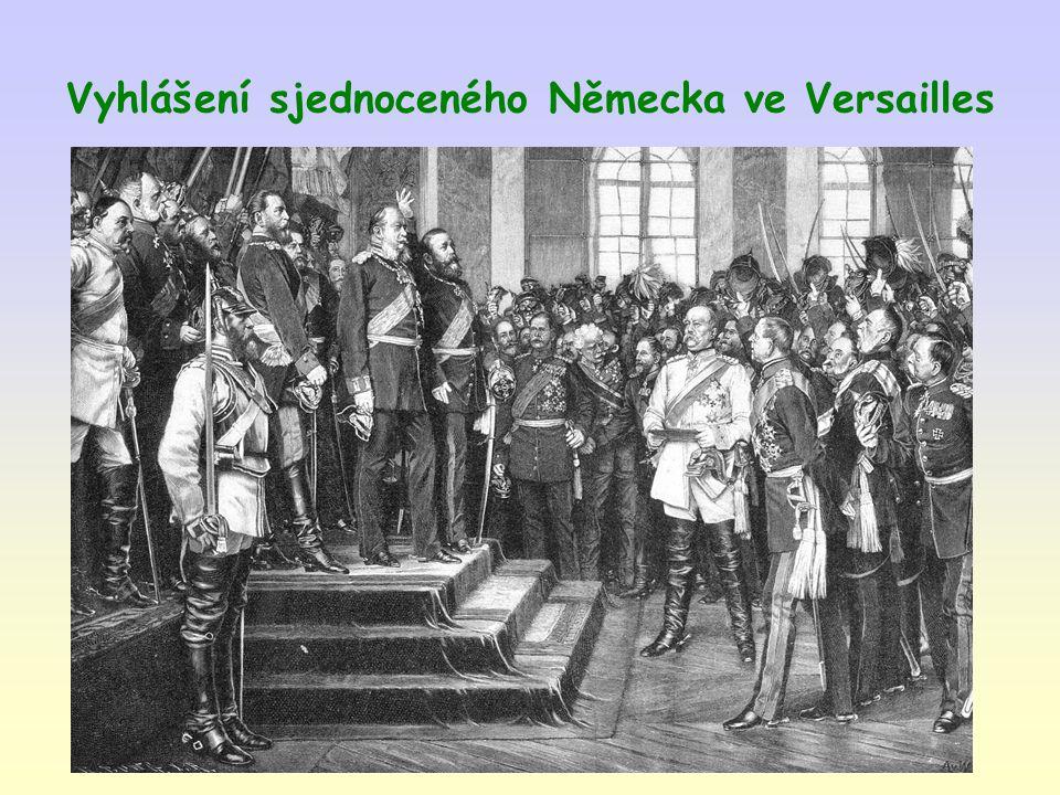 Vyhlášení sjednoceného Německa ve Versailles