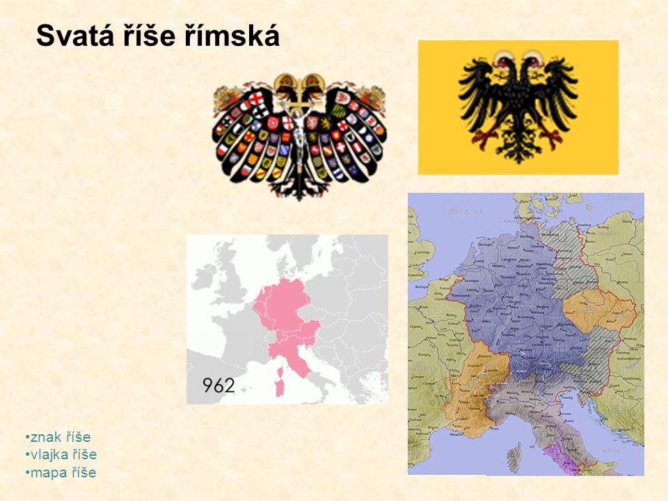 Svatá říše římská znak říše vlajka říše mapa říše
