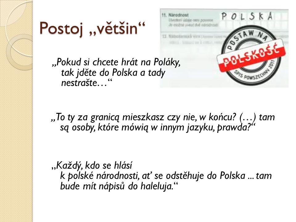 """Postoj """"většin """"Pokud si chcete hrát na Poláky, tak jděte do Polska a tady nestrašte…"""