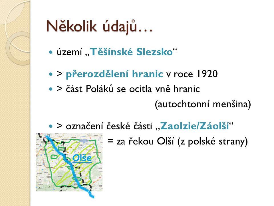 """Několik údajů… území """"Těšínské Slezsko"""