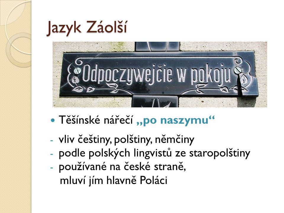 """Jazyk Záolší Těšínské nářečí """"po naszymu"""
