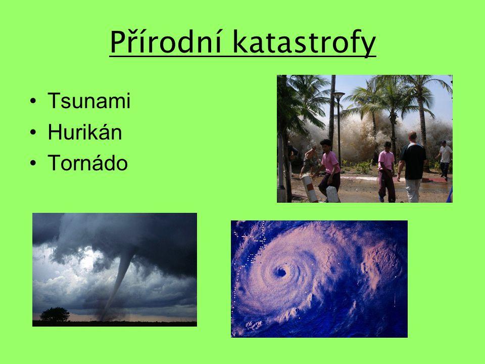 Přírodní katastrofy Tsunami Hurikán Tornádo