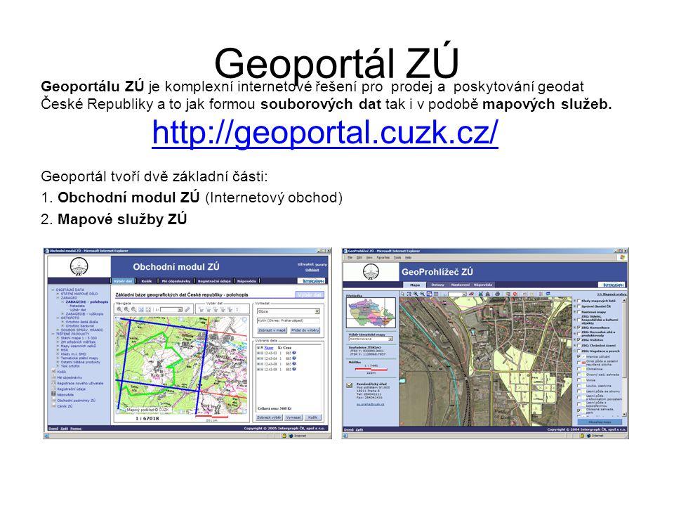 Geoportál ZÚ http://geoportal.cuzk.cz/