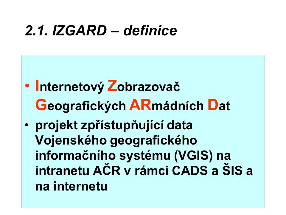 Internetový Zobrazovač Geografických ARmádních Dat