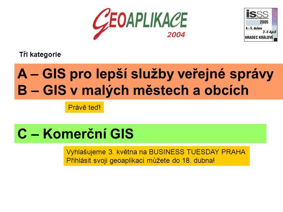 A – GIS pro lepší služby veřejné správy