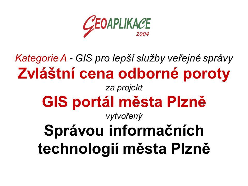 Zvláštní cena odborné poroty GIS portál města Plzně