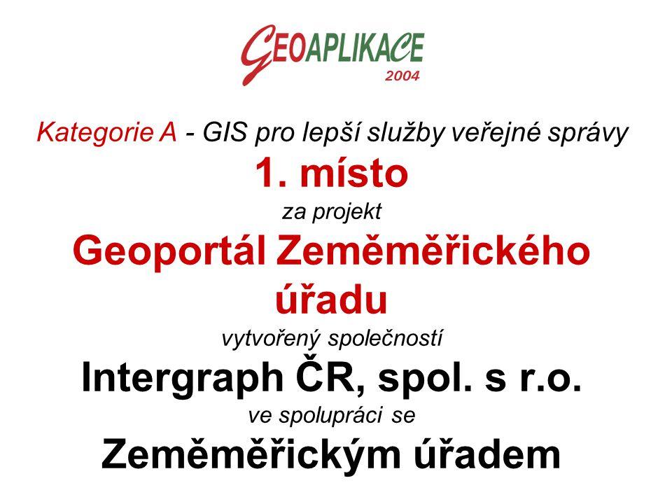 Kategorie A - GIS pro lepší služby veřejné správy 1
