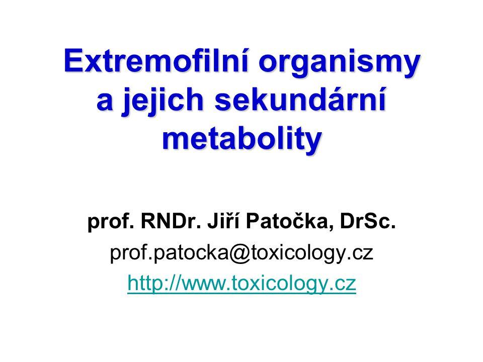 Extremofilní organismy a jejich sekundární metabolity