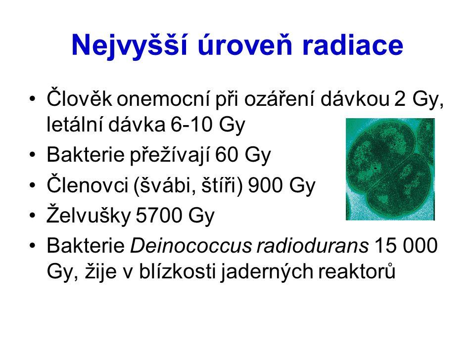 Nejvyšší úroveň radiace