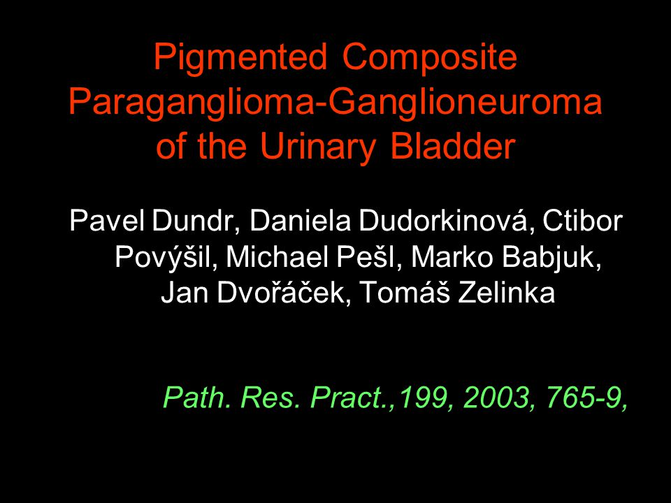 Pigmented Composite Paraganglioma-Ganglioneuroma of the Urinary Bladder