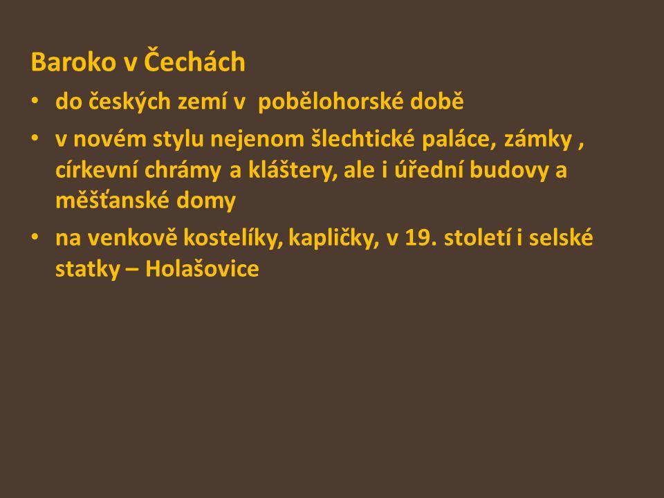 Baroko v Čechách do českých zemí v pobělohorské době