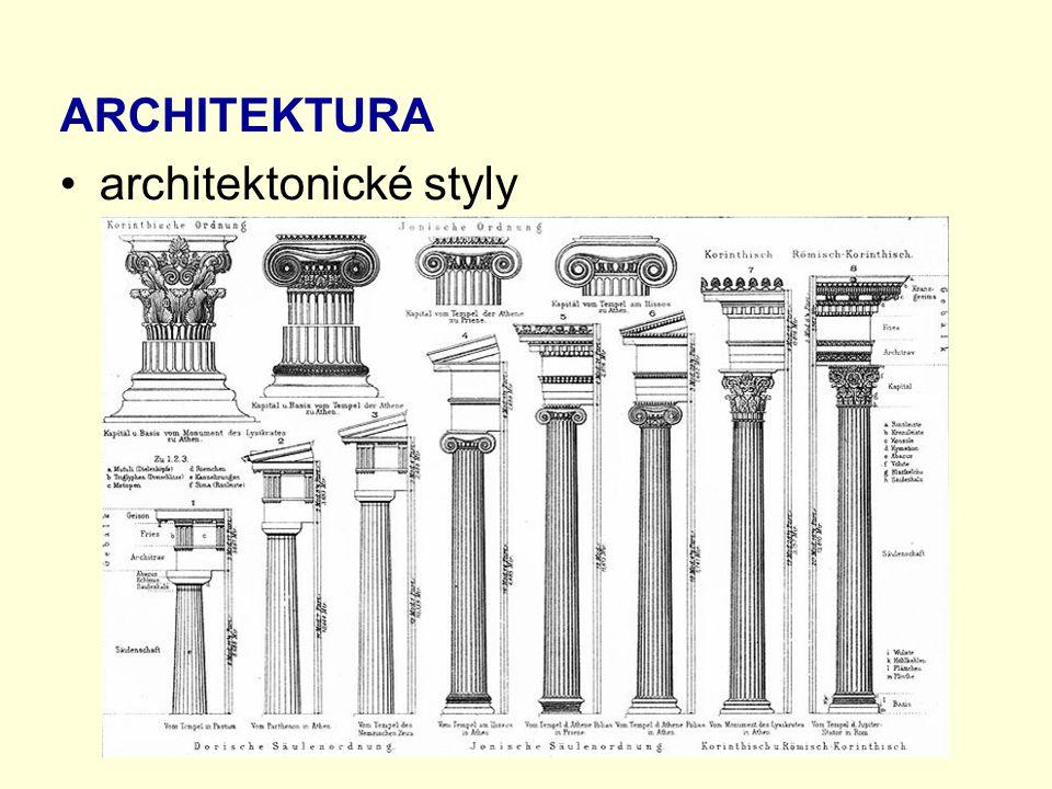 ARCHITEKTURA architektonické styly