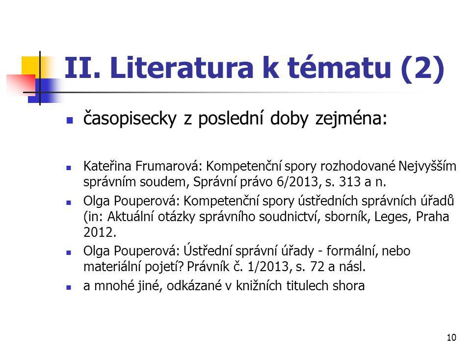II. Literatura k tématu (2)
