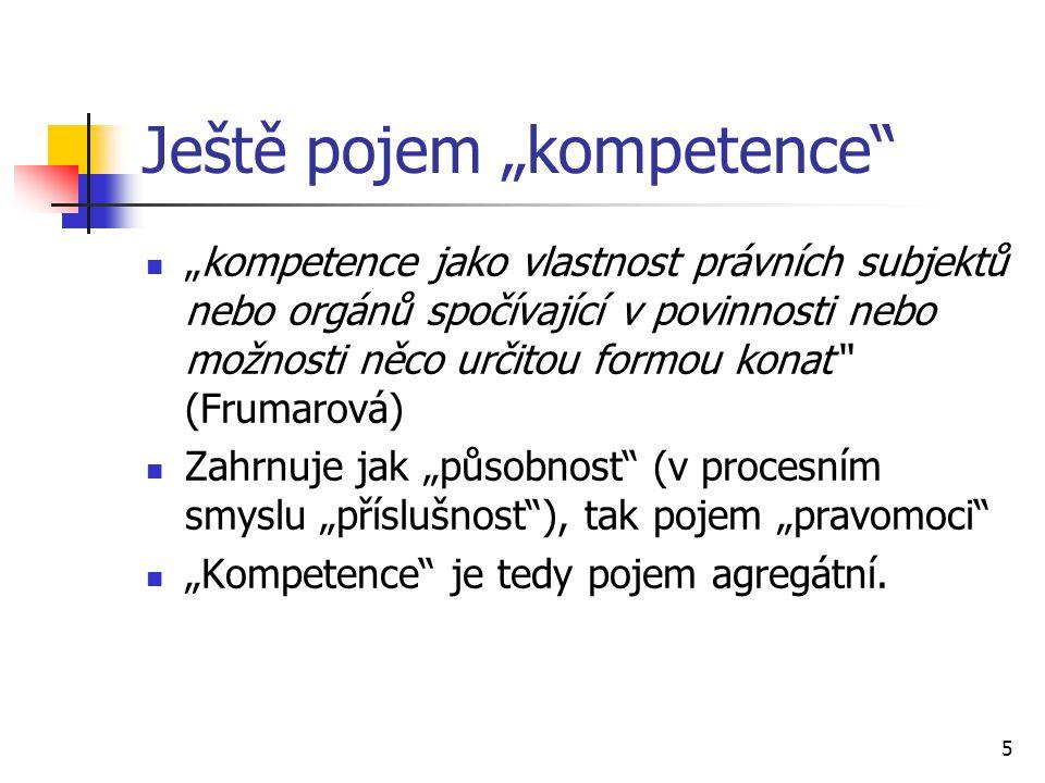 """Ještě pojem """"kompetence"""