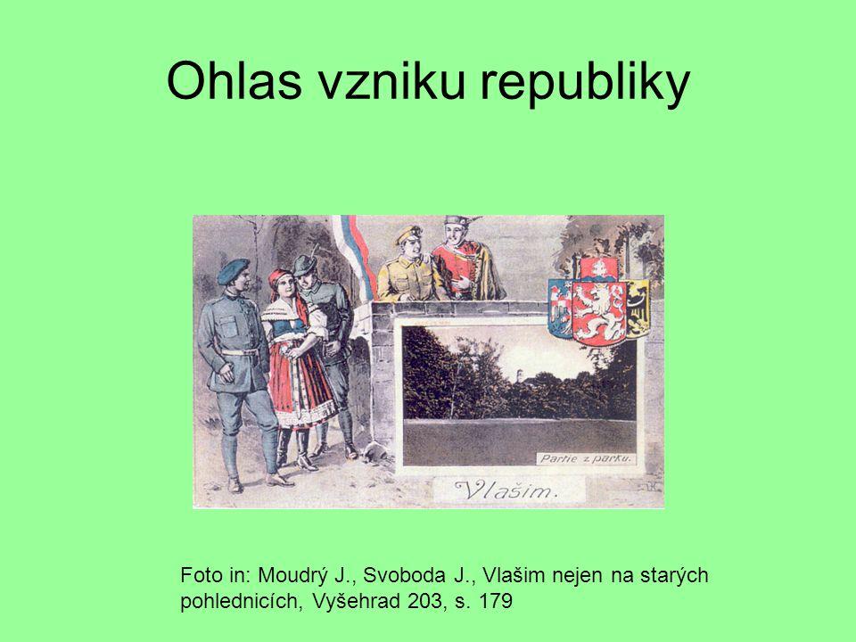 Ohlas vzniku republiky