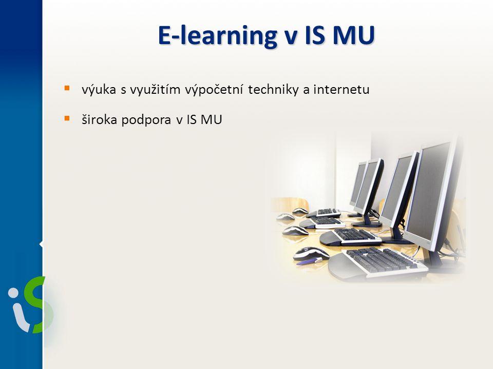 E-learning v IS MU výuka s využitím výpočetní techniky a internetu