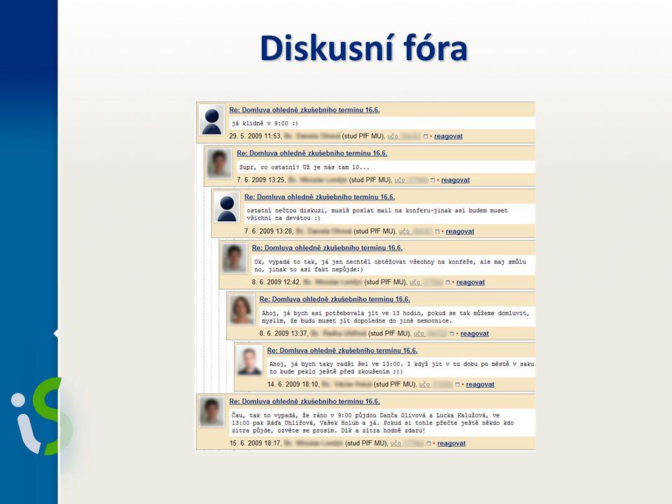 Diskusní fóra