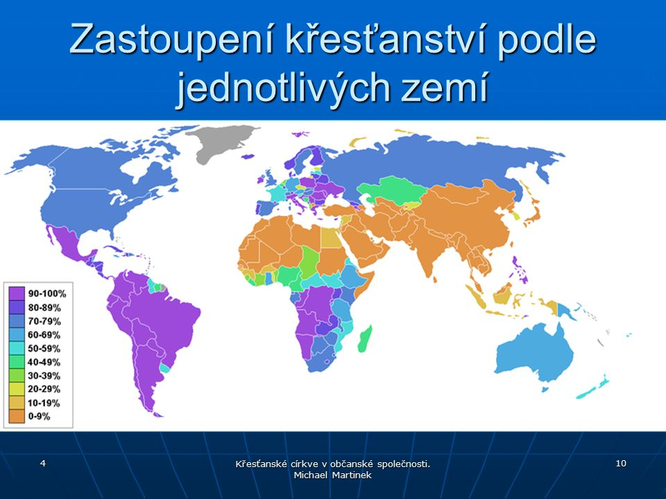 Zastoupení křesťanství podle jednotlivých zemí