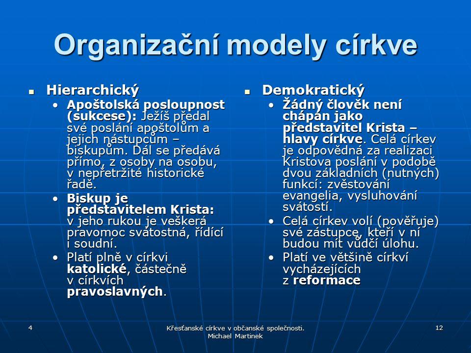 Organizační modely církve