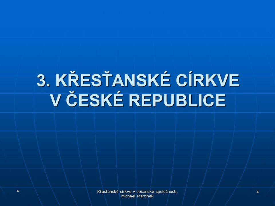 3. KŘESŤANSKÉ CÍRKVE V ČESKÉ REPUBLICE