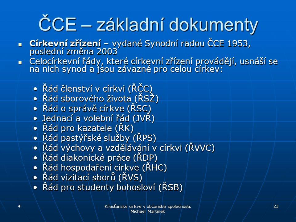ČCE – základní dokumenty