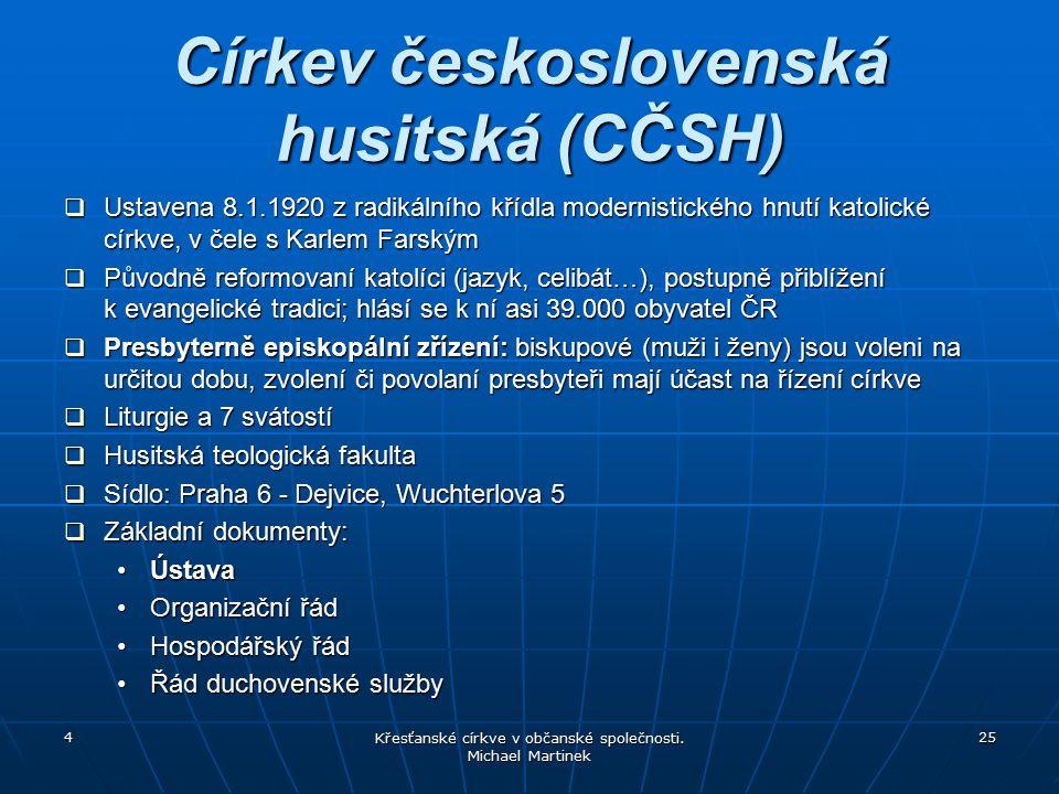 Církev československá husitská (CČSH)