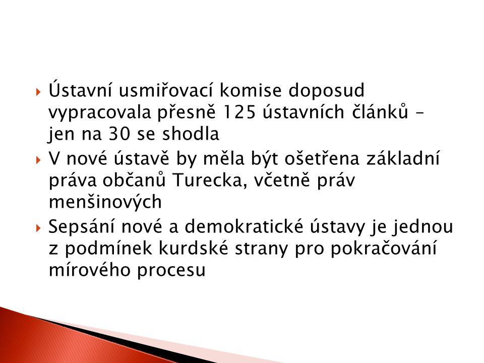 Ústavní usmiřovací komise doposud vypracovala přesně 125 ústavních článků – jen na 30 se shodla