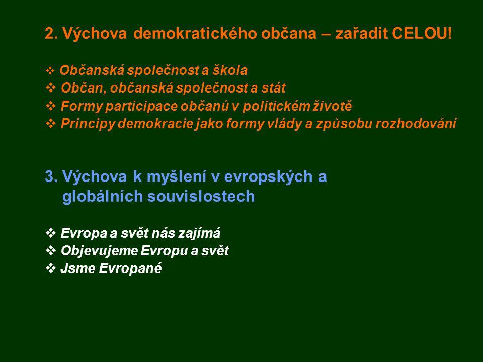2. Výchova demokratického občana – zařadit CELOU!