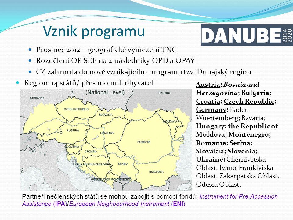 Vznik programu Prosinec 2012 – geografické vymezení TNC