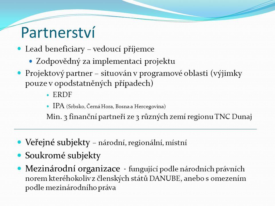 Partnerství Veřejné subjekty – národní, regionální, místní