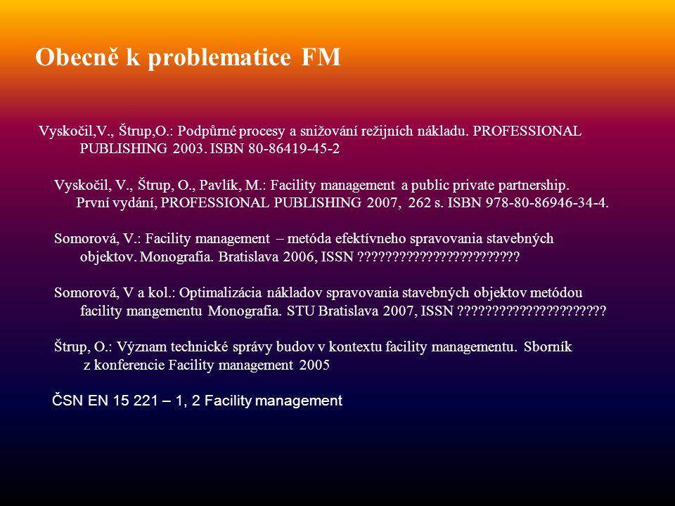 Obecně k problematice FM Vyskočil,V. , Štrup,O
