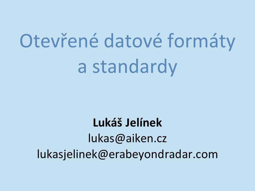 Otevřené datové formáty a standardy